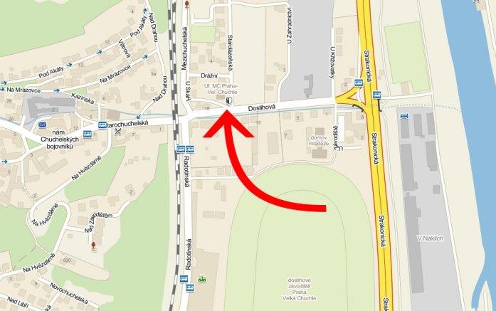 mapa úřadu se šipkou