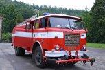 Tímto krásným historickým vozem, ovšem plně funkčním, přijeli pomáhat také dobrovolní hasiči z Brna