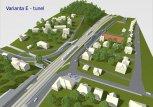 Ilustrační obrázek - vizualizace varianty E - tunel