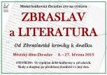 Zbraslav a literatura - leták k doprovodné akci