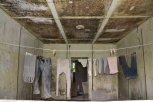 V polorozpadlém objektu bývalého zahradnictví si někdo sušil prádlo ... foto: Pavel Kováč