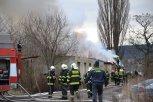 Požár v areálu bývalého zahradnictví 2