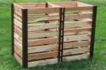 Dřevěný kompostér o objemu 2000 litrů
