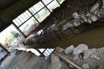 Odtokový kanál v plechové boudě ... foto: Pavel Kováč