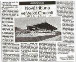1991 - Na dostihovém závodišti byla dokončena dostihová tribuna. Rok ilustruje článek z dobového tis