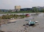 u Čechoslovanu - voda brala také auta ... foto: Jan Zágler