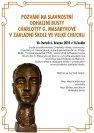 Pozvánka na odhalení busty Ch. G. Masarykové